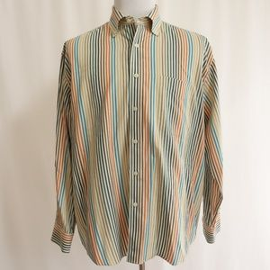 Alan Flusser Striped L/S Mens Dress Shirt Sz L